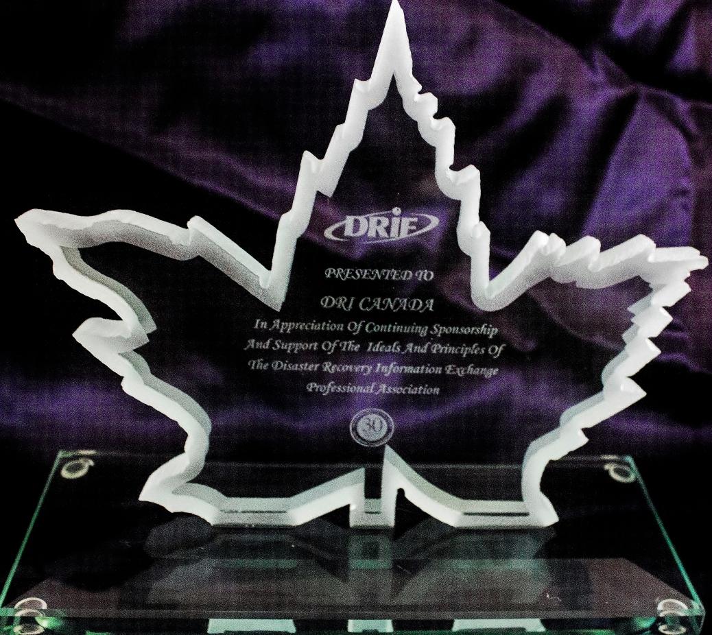 DRIE DRIC award